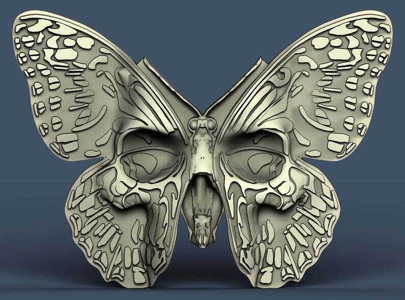 LARGE SKULL BUTTERFLY SILICONE MOULD