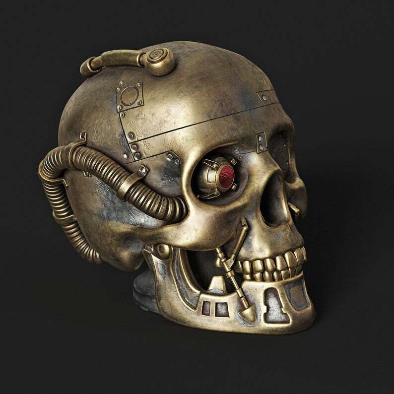 LARGE 3D STEAMPUNK SKULL SILICONE MOULD