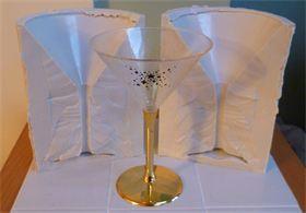 3D MARTINI GLASS SILICONE MOULD