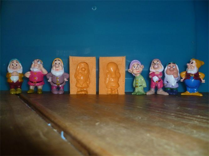 SET OF THE 7 DWARFS 3D SILICONE MOULDS