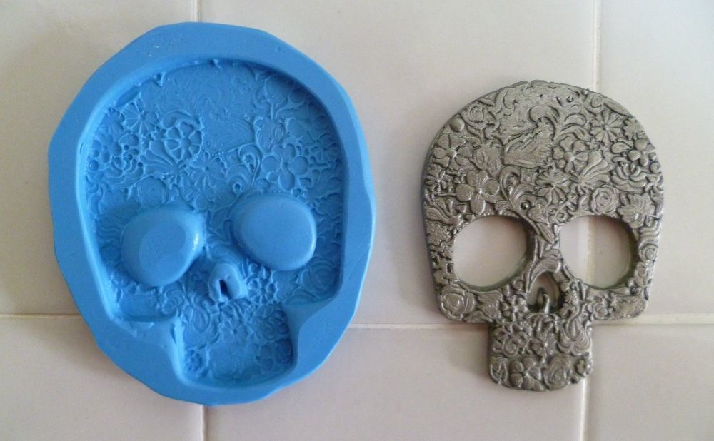 ORNATE SKULL SILICONE MOULD