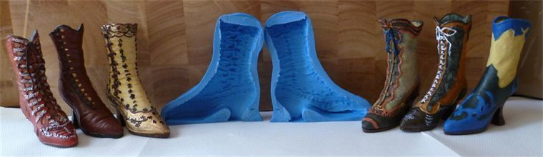 3D VINTAGE ORNATE BOOT SILICONE MOULD
