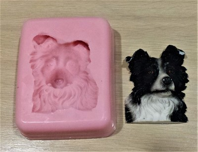 BORDER COLLIE FACE SILICONE MOULD