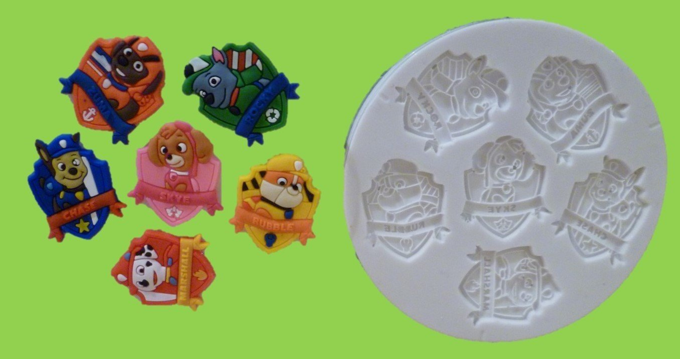 PAW PATROL PLAQUES SILICONE MOULD