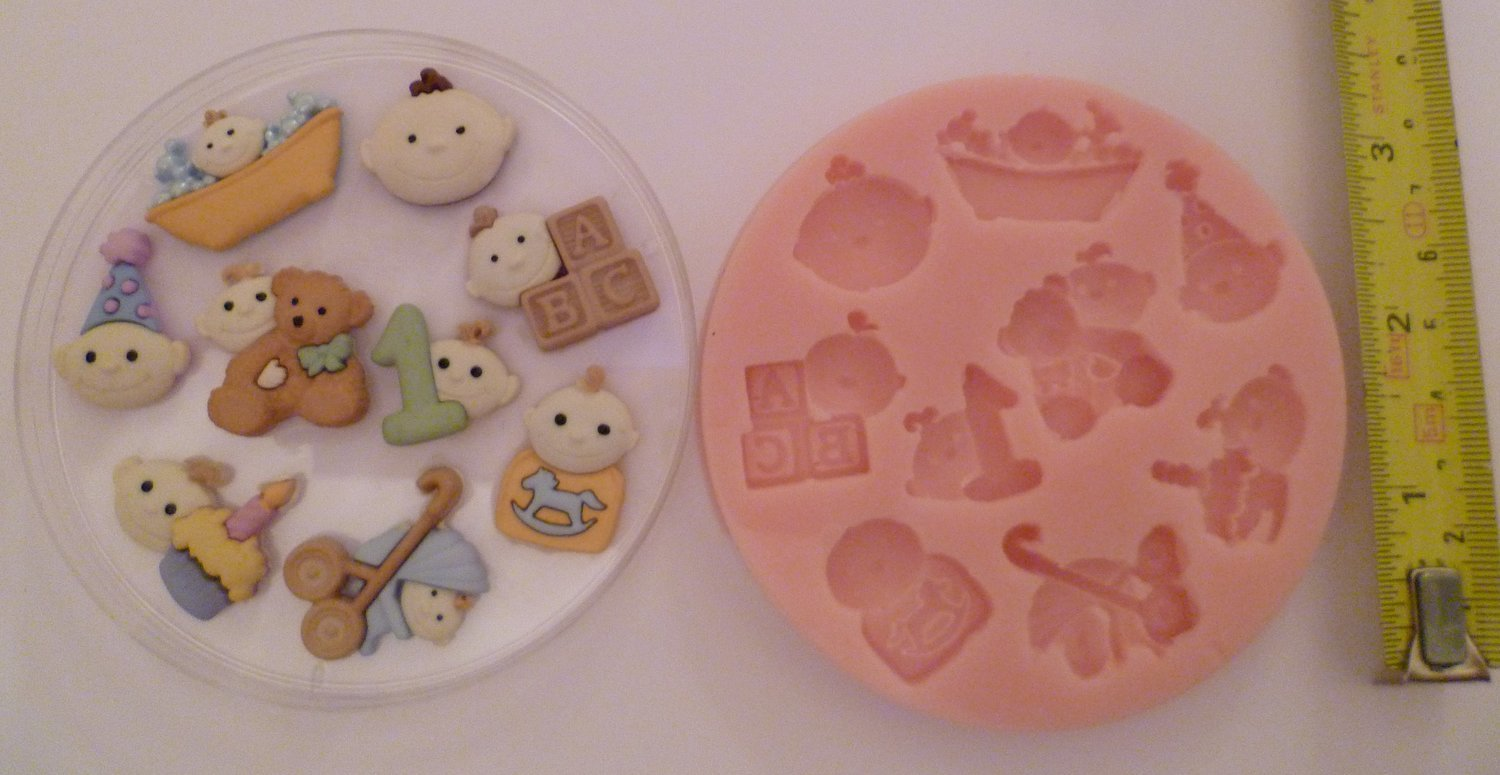BABY 1st BIRTHDAY SILICONE MOULD