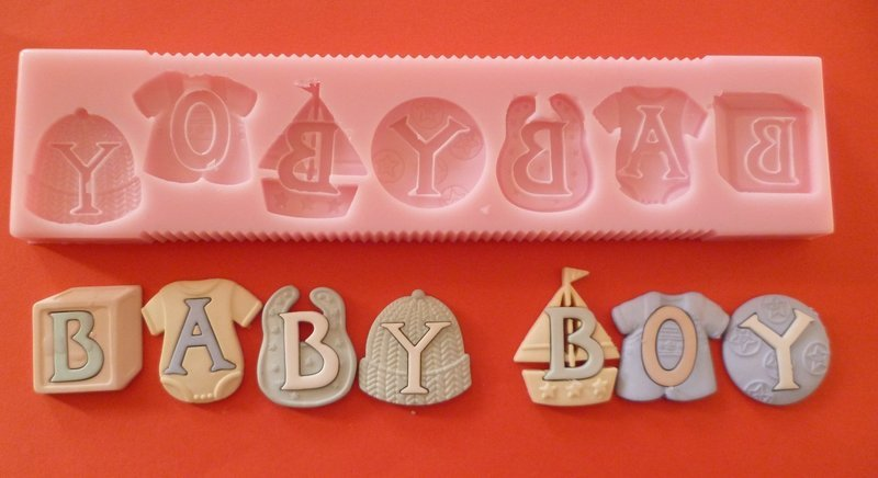BABY BOY LETTERS SILICONE MOULD