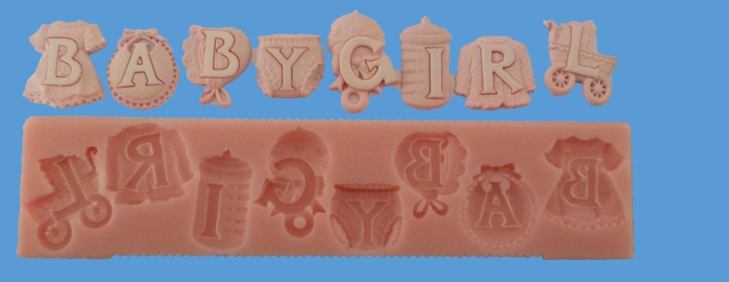 BABY GIRL LETTERS SILICONE MOULD