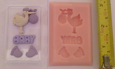 BABY STORK SET SILICONE MOULD