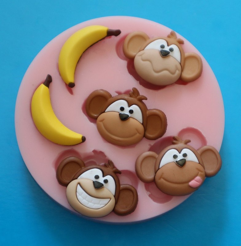 MONKEYS AND BANANAS SILICONE MOULD
