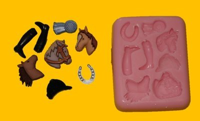 HORSE SHOW JUMPING SILICONE MOULD