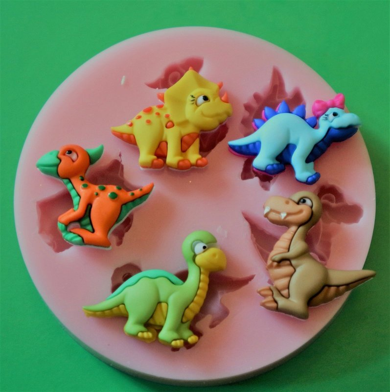 BABY DINOSAURS SILICONE MOULD