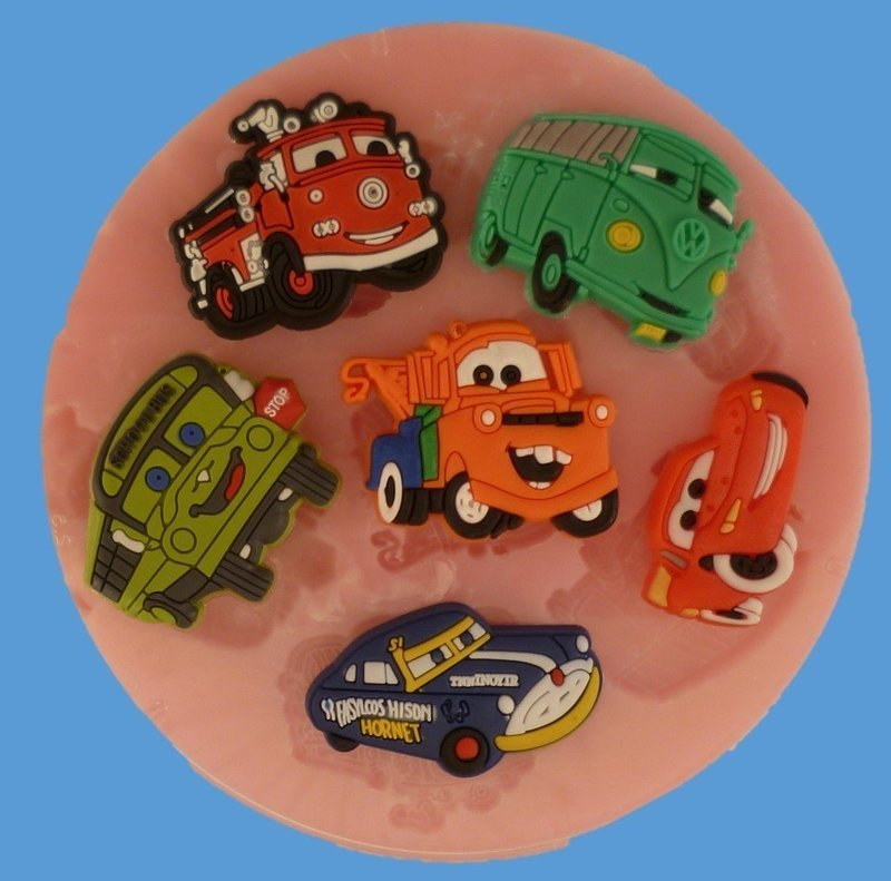 CARS SET OF SILICONE MOULDS