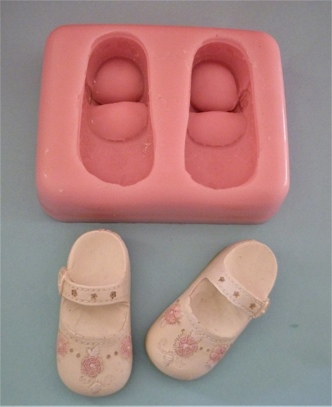 3D BABY GIRL SHOES SET SILICONE MOULD