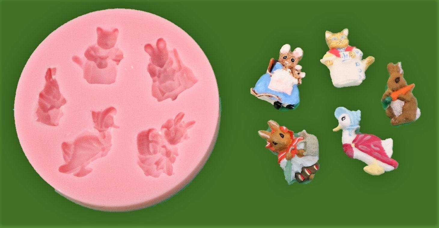BEATRIX POTTER INSPIRED SET SILICONE MOULD