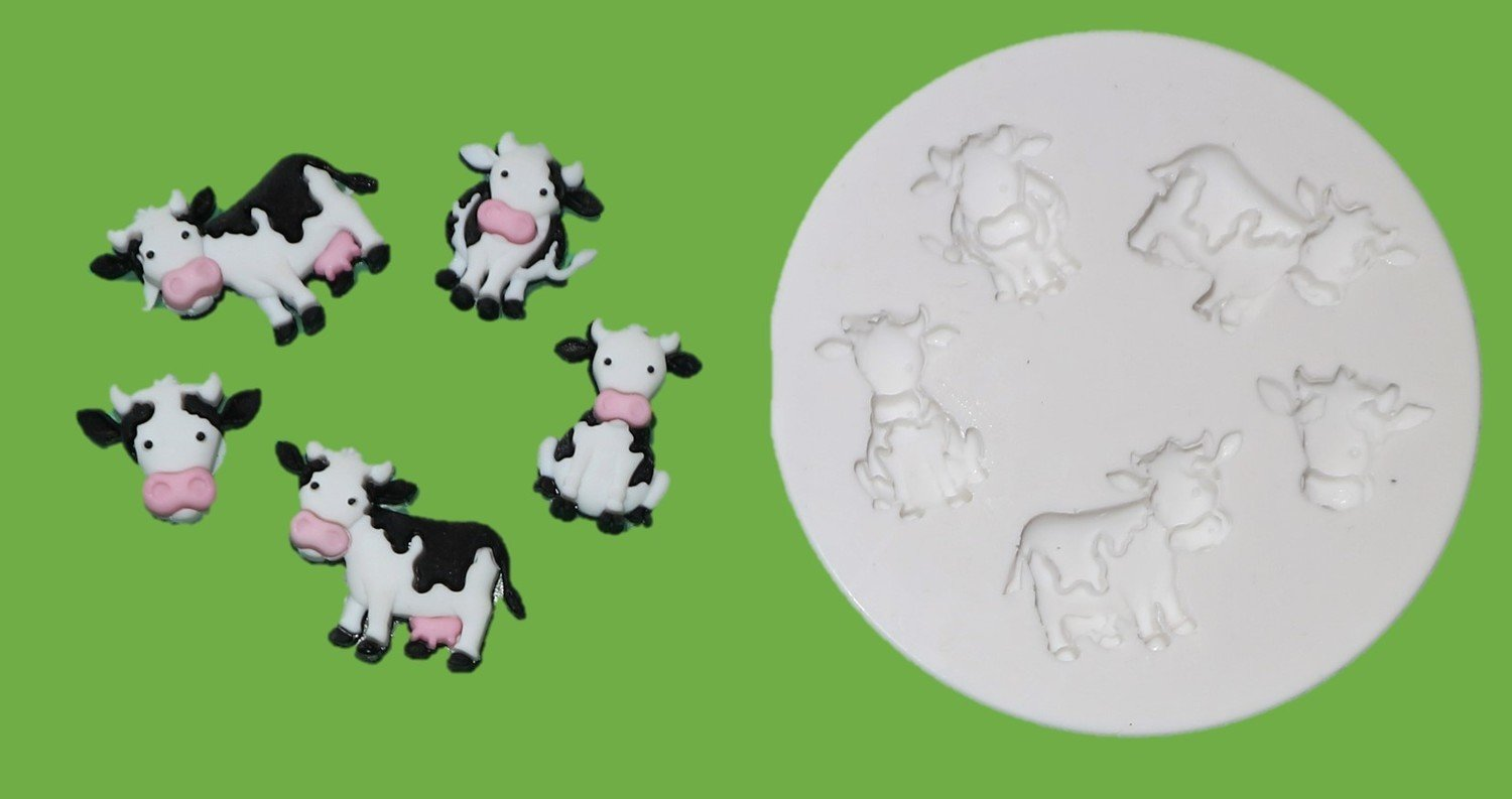 NEW COWS SET SILICONE MOULD