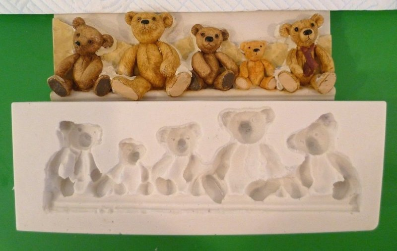 LARGE TEDDY BEAR BORDER SILICONE MOULD