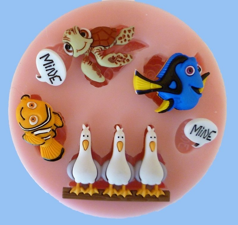 FINDING NEMO SILICONE MOULD