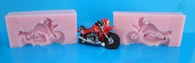 3D SMALL MOTORBIKE SILICONE MOULD