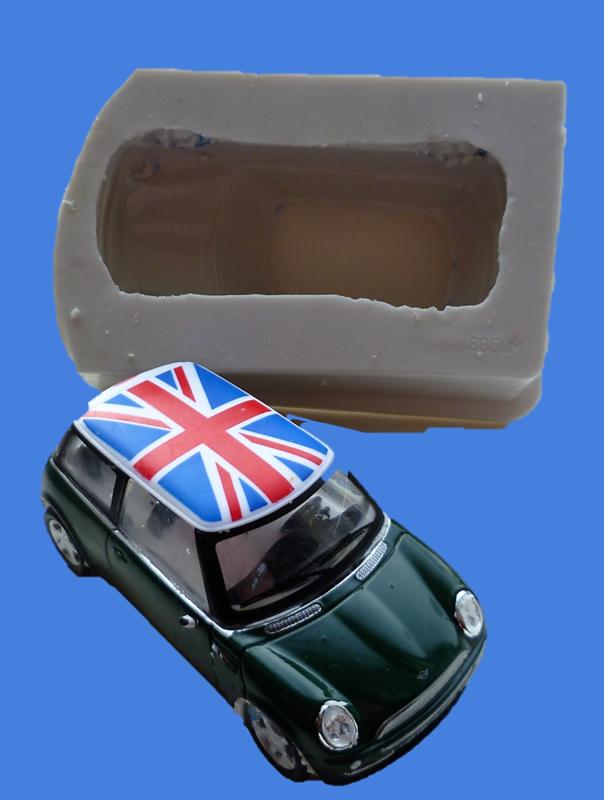 8cm 3D MINI COOPER SILICONE MOULD