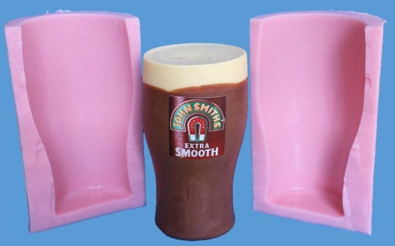 3D PINT GLASS SILICONE MOULD