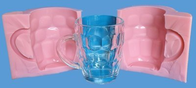 3D TRADITIONAL PINT GLASS SILICONE MOULD