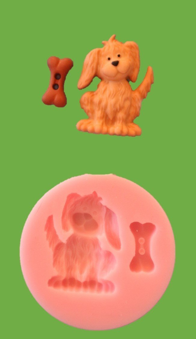 DOG AND BONE SILICONE MOULD