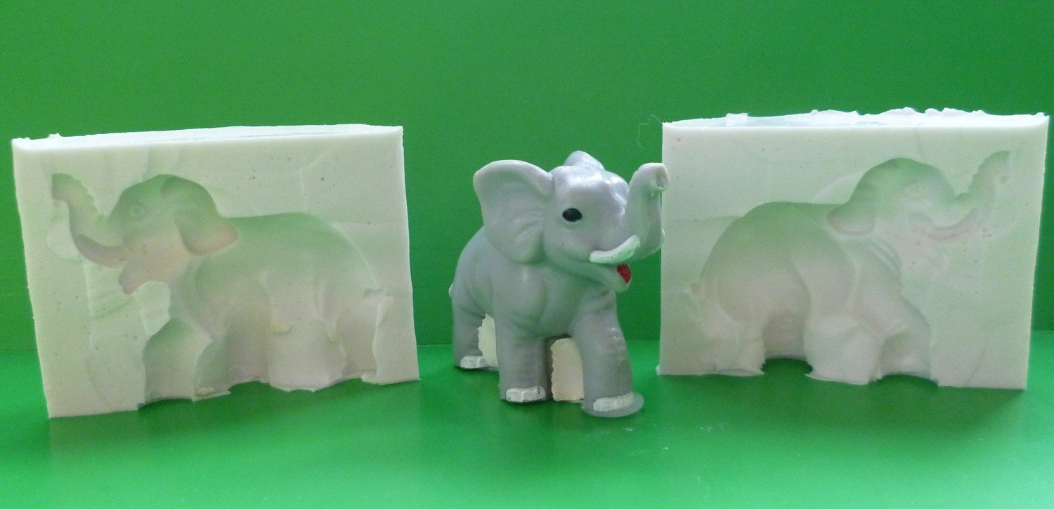 3D ELEPHANT SILICONE MOULD