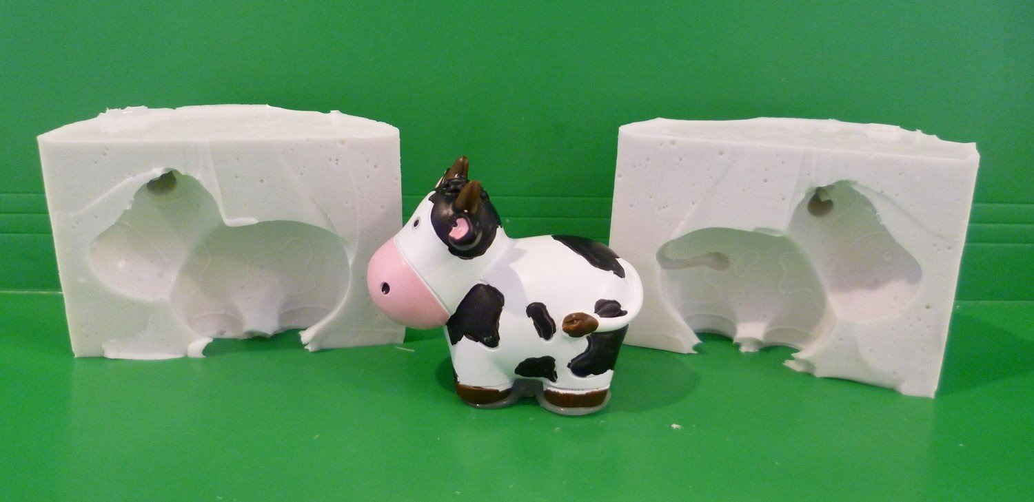 3D COW SILICONE MOULD