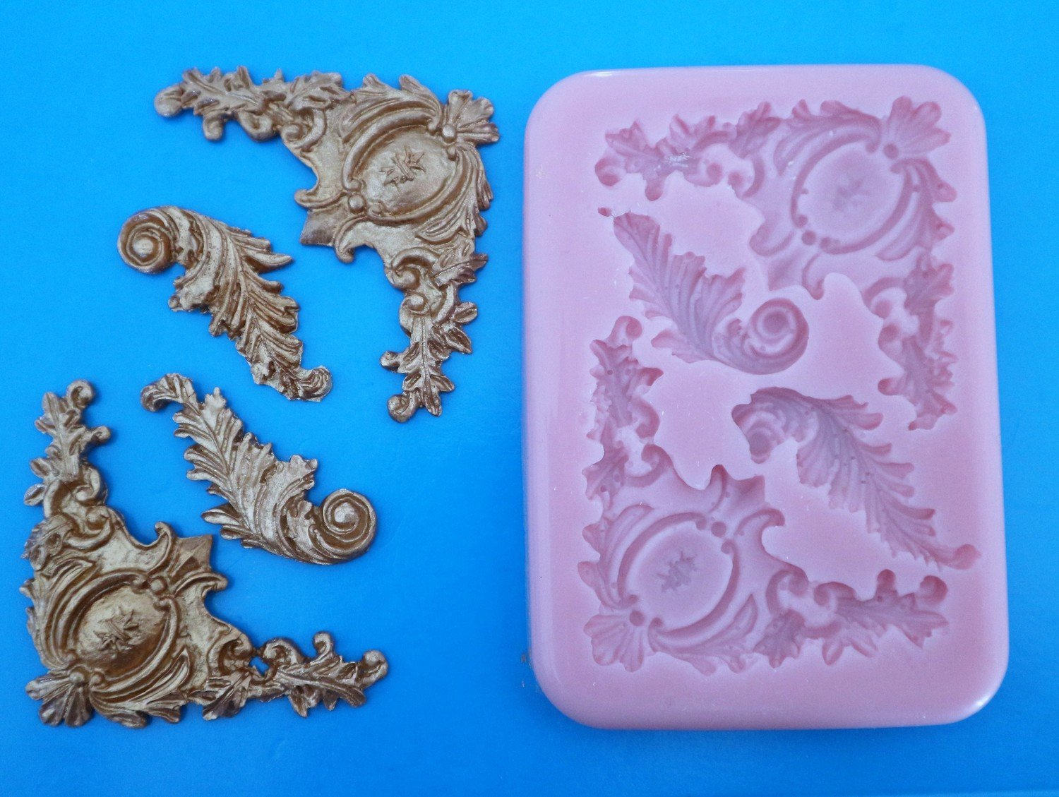 ORNATE BAROQUE SILICONE MOULD