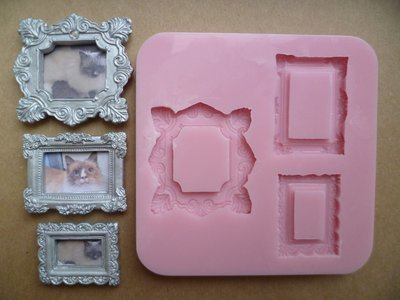 SET OF 3 RECTANGLE FRAMES SILICONE MOULDS