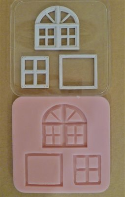 SET OF 3 WINDOW SILICONE MOULDS