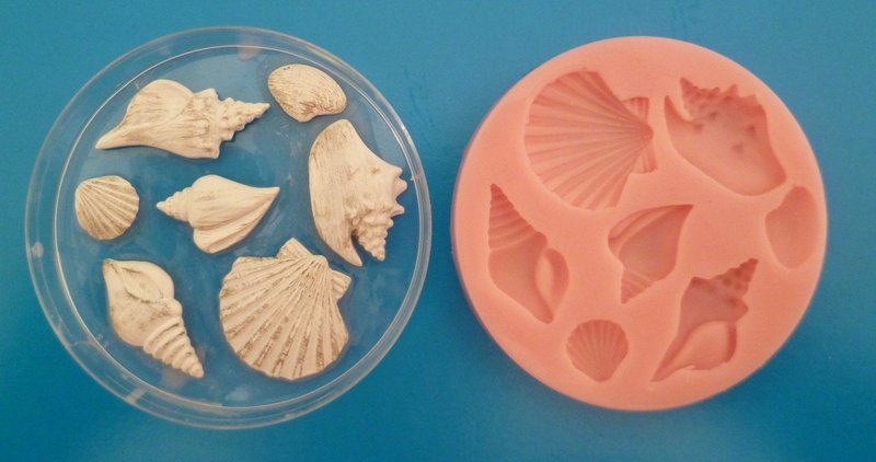 SET OF 7 SEASHELLS SILICONE MOULDS