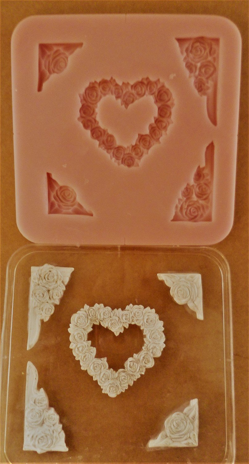 ROSE HEART & CORNERS SILICONE MOULD
