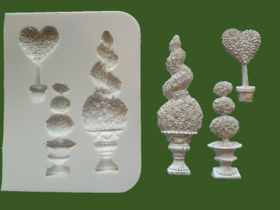 TOPIARY TREES SILICONE MOULD