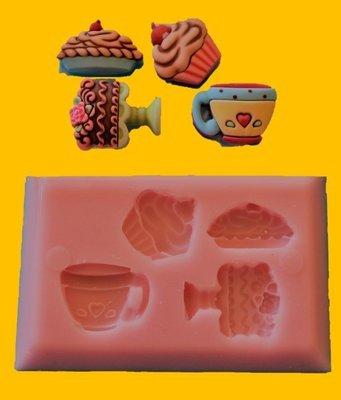 CAKE & TEA TIME SILICONE MOULD