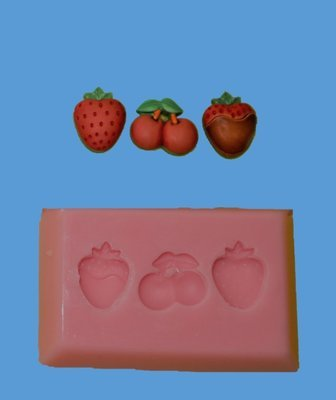 STRAWBERRIES AND CHERRIES SILICONE MOULD