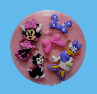 MINNIE AND DAISY SILICONE MOULD