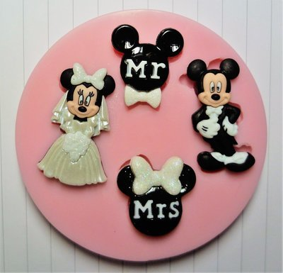 MICKEY AND MINNIE WEDDING SILICONE MOULD
