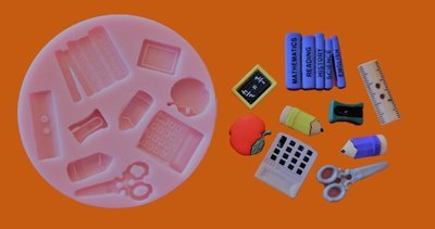 SCHOOL SET SILICONE MOULD