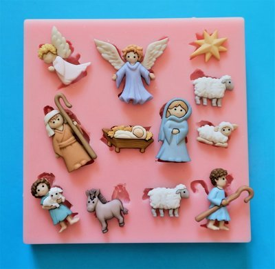 NATIVITY SET SILICONE MOULD