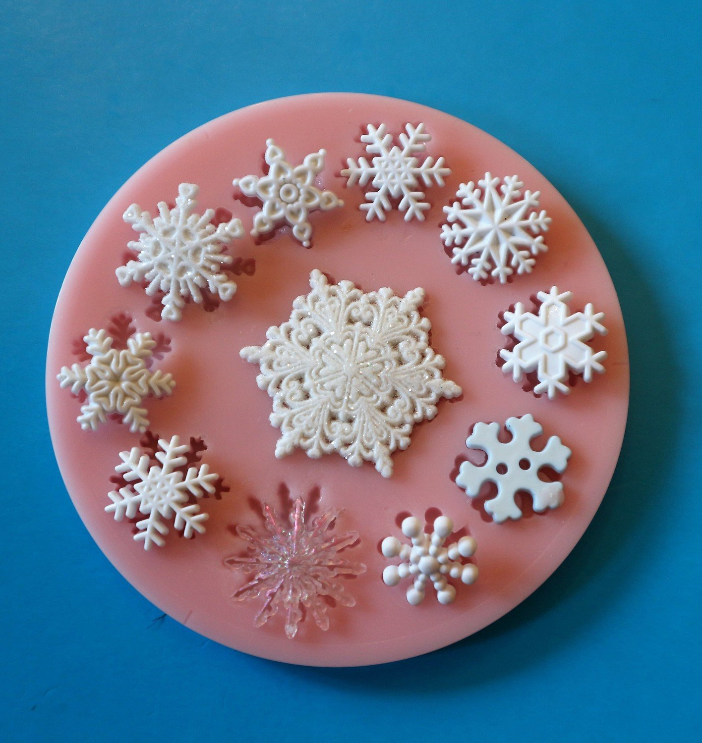 SNOWFLAKES SET SILICONE MOULD