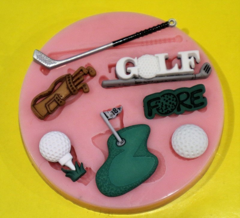 GOLF SET SILICONE MOULD