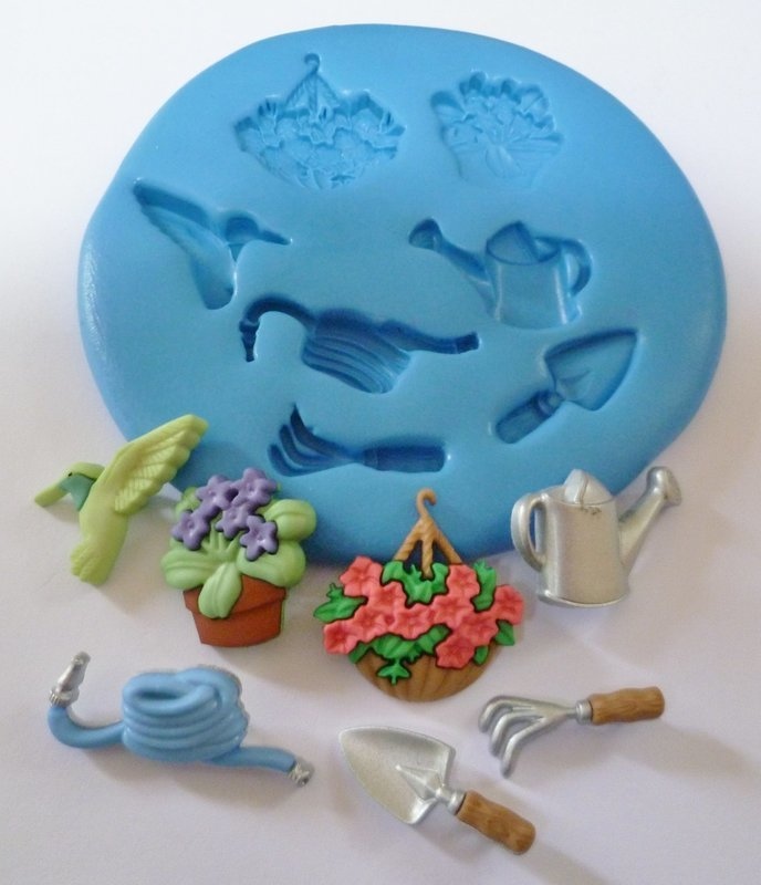 GARDENING SET 002 SILICONE MOULD