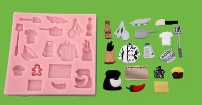 CHEFS COOKING SET SILICONE MOULD