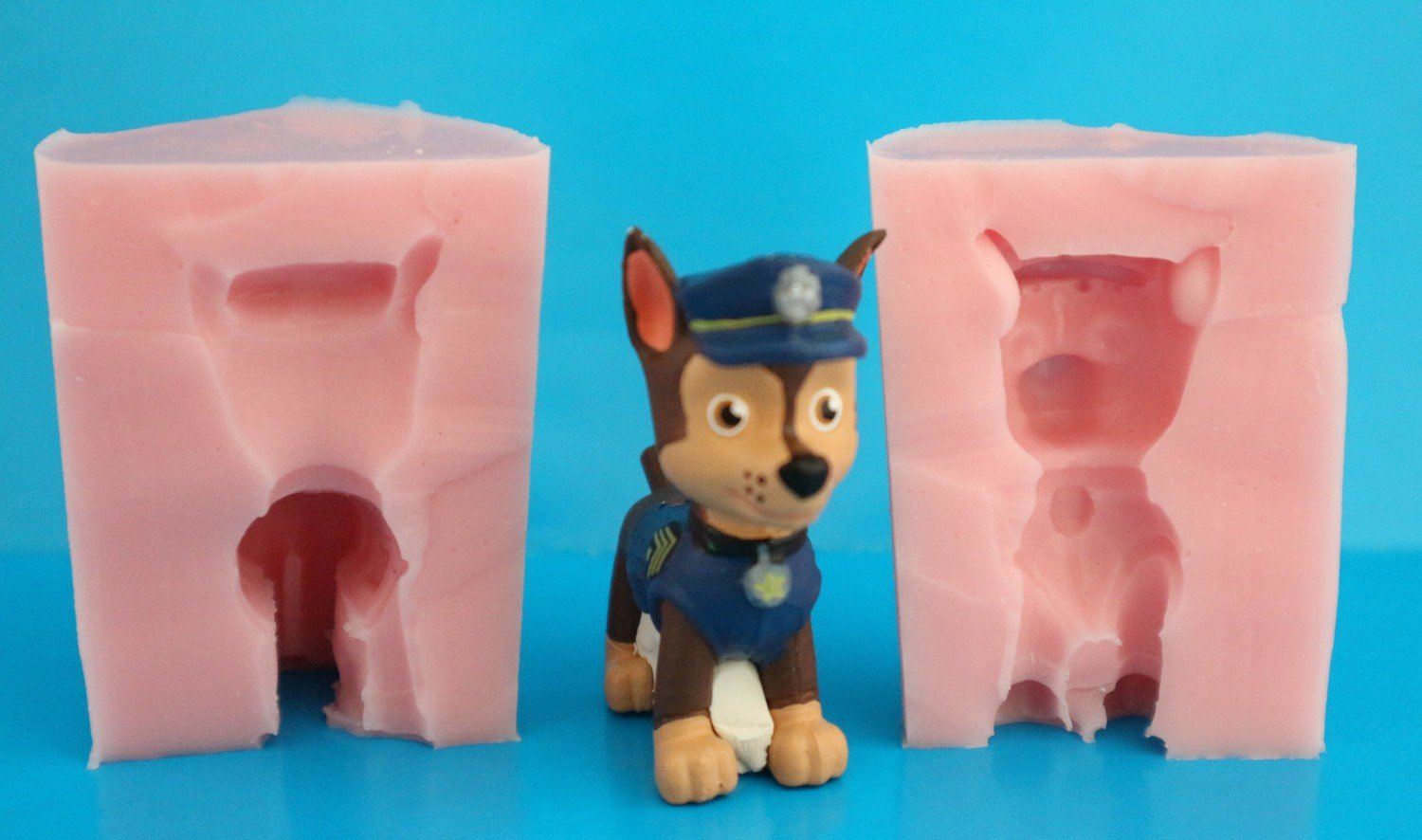 3D PAW PATROL CHASE SILICONE MOULD