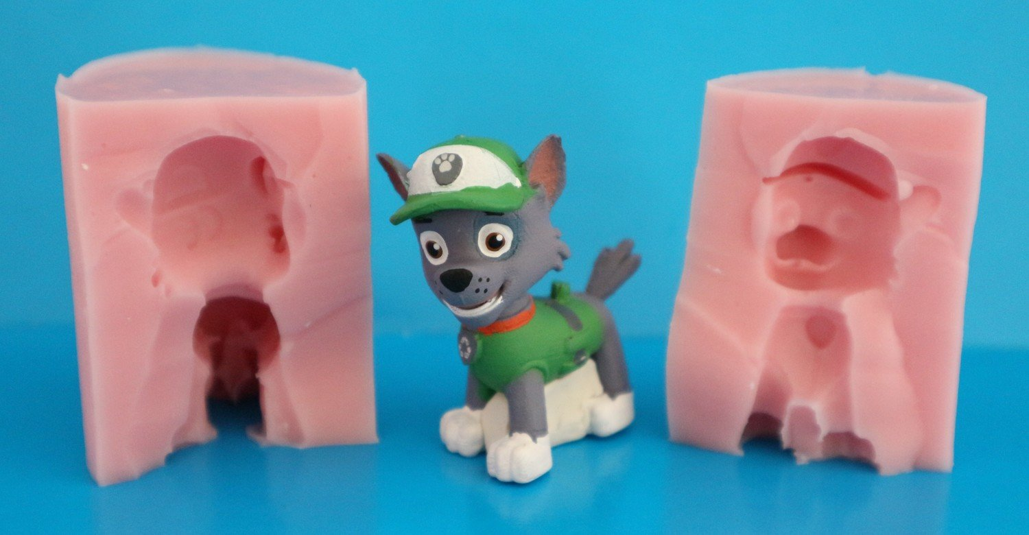 3D PAW PATROL ROCKY SILICONE MOULD
