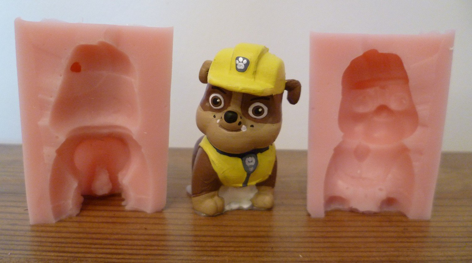 3D PAW PATROL RUBBLE SILICONE MOULD