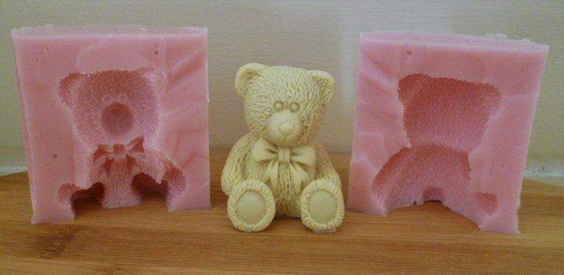 3D TEDDY BEAR SILICONE MOULD