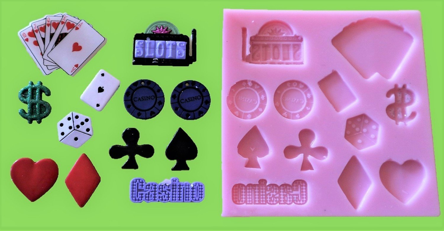 GAMBLING / CASINO SET SILICONE MOULD