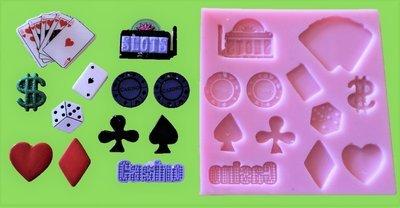 GAMBLING / CASINO SET SILICONE MOULD